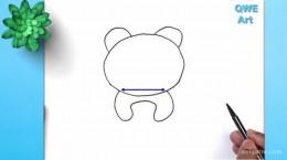 نقاشی کشیدن برای بچه ها خرس پاندا
