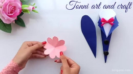 ساخت کارت پستال گل رز برای روز پدر