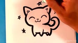 آموزش نقاشی بچه گربه