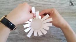 کاردستی ساده سبد کاغذی برای کودکان