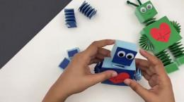 کاردستی آسان و جالب ربات با کاغذ رنگی