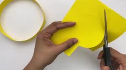 کاردستی آسان و جالب تاج کاغذی به شکل خورشید