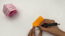 کاردستی آسان و جالب خانه کاغذی