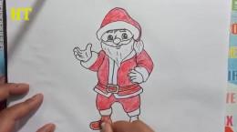 آموزش کشیدن نقاشی بابانوئل برای کودکان