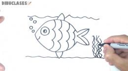 آموزش کشیدن نقاشی ساده ماهی