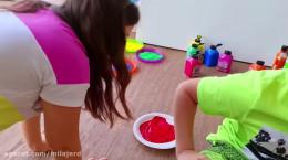 آدریانا و دوستان ساخت ژله کره چشم با آدریانا