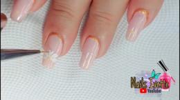 مدل جدید لاک ناخن طرح شکوفه سفید
