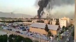 فیلم آتش سوزی در جنوب تهران