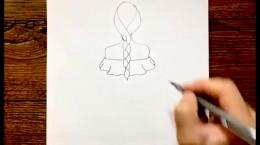 طراحی دختر با پیراهن مجلسی