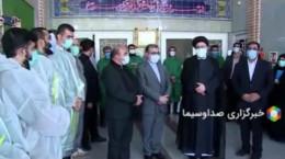 حضور رئیس جمهور در غسالخانه بهشت زهرا