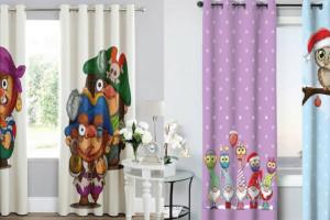 ۸۴ مدل پرده اتاق خواب کودک با طرح های شاد و کارتونی و فانتزی