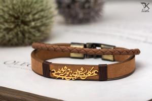 50 مدل دستبند چرم مردانه و پسرانه با پلاک طلا شیک و جدید 2018
