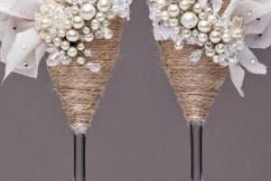 مدل تزیین جام عروس و داماد با طراحی شیک و زیبا + تصویر