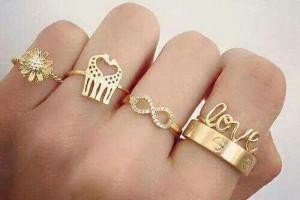 انگشتر دخترانه استیل ۹۸ در انواع طرح های زیبا و متفاوت