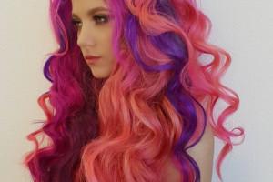 مدل رنگ مو فانتزی چند رنگ با طرح های جدید و بسیار زیبا (۵۰ عکس)