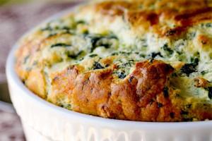روش تهیه ی سوفله ی اسفناج با پنیر خوشمزه و خاص