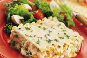 دستور پخت لازانیا سبزیجات با سس مخصوص