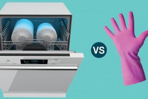 تفاوت شستن ظرف با دست و ماشین ظرفشویی