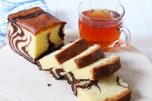 دستور پخت کیک ماربل یا کیک مرمرین با رگه های شکلات و وانیل