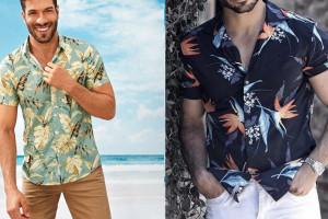 تصاویری جدید و زیبا از پیراهن طرح دار مردانه شیک و جذاب امسالی