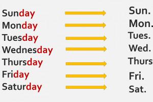 آموزش کامل روزهای هفته به انگلیسی + فیلم آموزشی