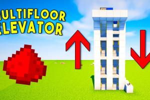 2 روش ساده برای ساخت آسانسور در ماین کرافت Minecraft