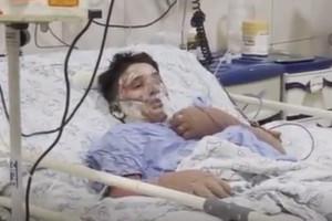 فیلم آخرین صبحت های علی لندی در بیمارستان