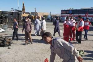 حادثه اتوبوس در یزد 5 کشته و 28 زخمی بر جای گذاشت
