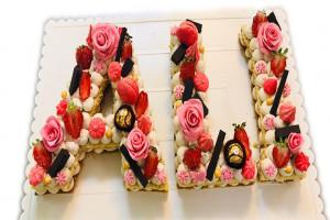 طرز تهیه سابله کیک به شکل حروف انگلیسی