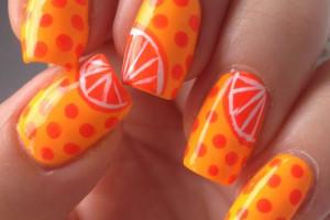 مدل های لاکچری طراحی ناخن با لاک نارنجی