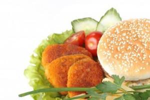 یک همبرگر لذیذ و جدید را امتحان کنید،همبرگر سبزیجات