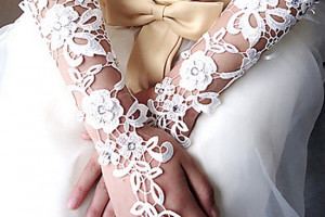 جدیدترین مدل های دستکش عروس 2014
