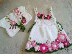 ست لباس بافتنی دخترانه بچه گانه و نوزادی جدید زمستان