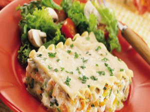 لازانیا سبزیجات - طرز تهیه لازانیا سبزیجات با سس