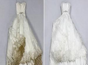نحوه شستن لباس عروس در منزل