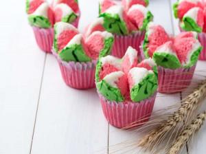 شب یلدایتان را با کاپ کیک هندوانه ای زیباتر کنید