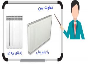 تفاوت رادیاتور پنلی با رادیاتور پره ای