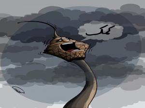 کاریکاتور آلودگی هوا