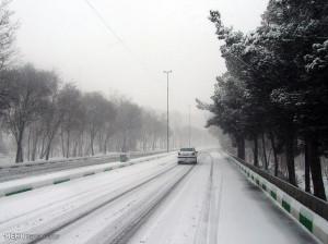 تصاویر بارش برف در شاهرود