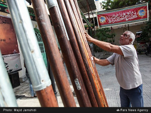 تصاویر آیین شستشوی علم دوازده امام  - منبر گپ -  بندرعباس