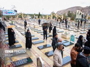 محل خاکسپاری سردار سپهبد شهید قاسم سلیمانی در گلزار شهدای کرمان