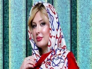 سلفی نیوشا ضیغمی با مجسمه مهران مدیری