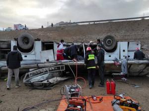 20 کشته و زخمی در حادثه اتوبوس محور هراز