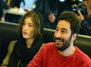 اختلاف قد چشمگیر  فرشته حسینی و نوید محمدزاده