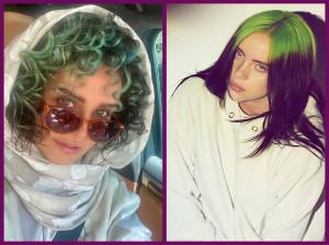 موهای سبز الناز شاکردوست / کپی از خواننده هالیودی ؟