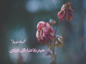 متن شعر حیدر بابا دنیا یالان دنیادی از شهریار همراه با ترجمه فارسی