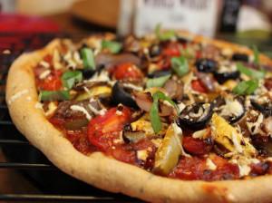 طرز تهیه پیتزای سبزیجات