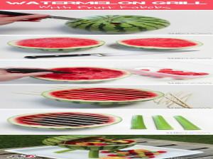 ایده جالب برای تزیین هندوانه به شکل باربیکیو