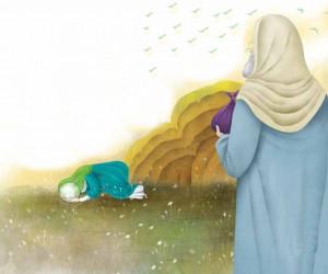 نقاشی امام سجاد (حضرت زین العابدین ع) برای رنگ آمیزی کودکان