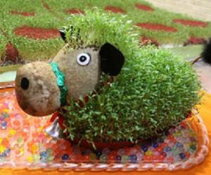 سبزه عید به شکل گاو